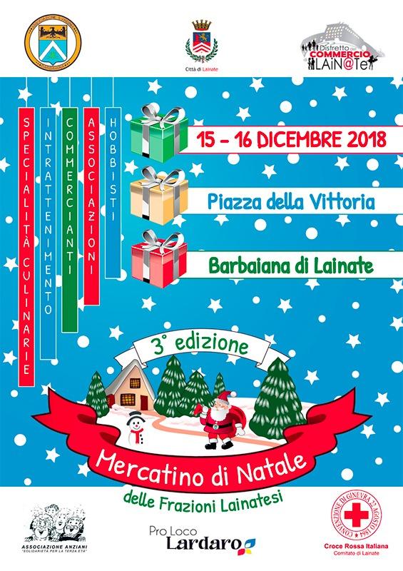 Locandina - Mercatino di Natale della frazione lainatese
