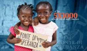 FdS - 5x1000 - Bambini con cartello